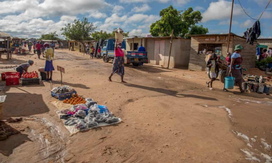 Street vendors in Hopley, six miles west of Zimbabwe's capital Harare, where thousands of families live in squalor.