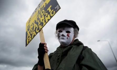 anti-fracker in Little Plumpton