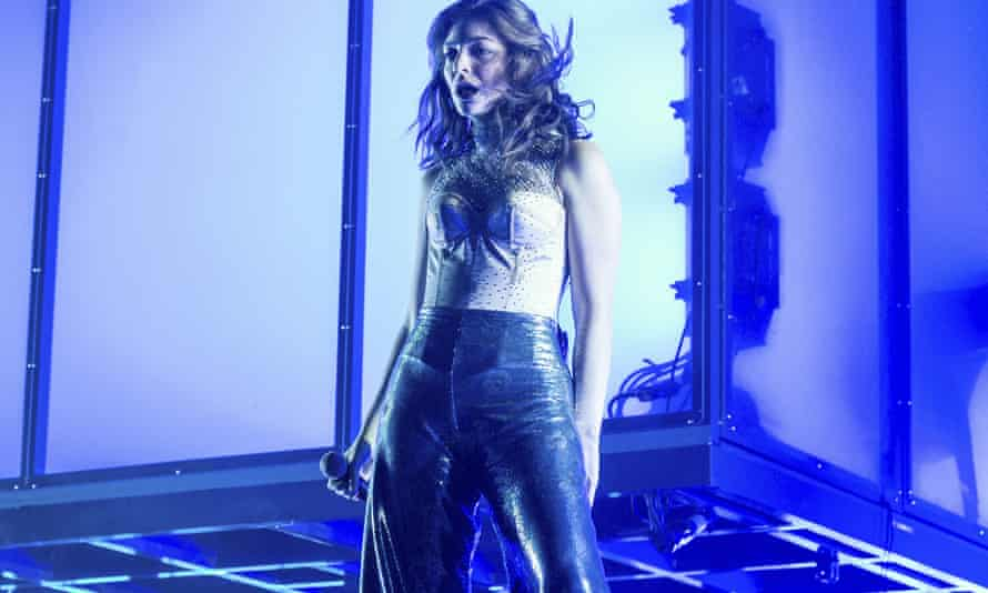 The singer Lorde on stage in California