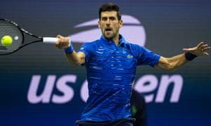 Novak Djokovic at the US Open in 2019