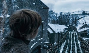 The scene at Winterfell.