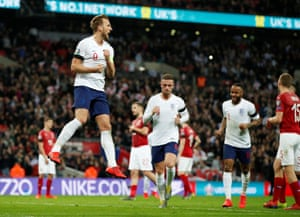 Kane celebrates the two goal cushion.