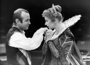 Bob Hoskins and Helen Mirren in John Webster's The Duchess of Malfi, directed by Adrian Noble in 1980. It transferred to London's Roundhouse in 1981.