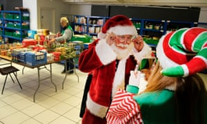 A visit from Santa for the food bank's Christmas grotto