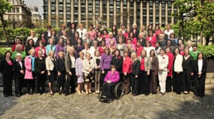 Labour's women MPs after the 2010 election, including Berger, centre back row.