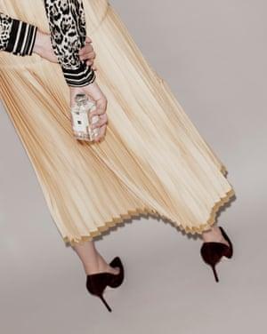 Basil & Neroli Cologne, £86, by Jo Malone Shirt by Roberto Cavalli. Skirt by Stella McCartney. Shoes by Jimmy Choo