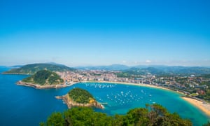 Overview from Monte Igueldo of San Sebastian, Spain.