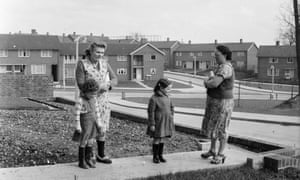 A street of council housing in the new town of Hemel Hempstead, Hertfordshire, 1954.