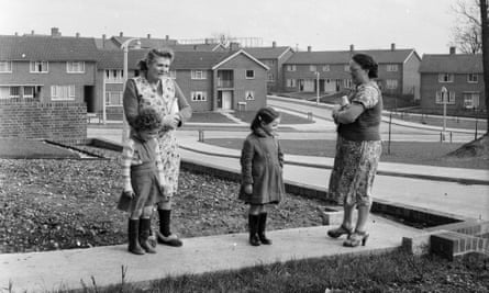 Newly-built council housing in Hemel Hempstead, Hertfordshire, 1954.