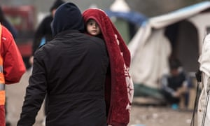 Migrant child Grande-Synthe  Dunkirk