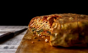 A modern, less laborious, version of a timpano, in New York.<br>