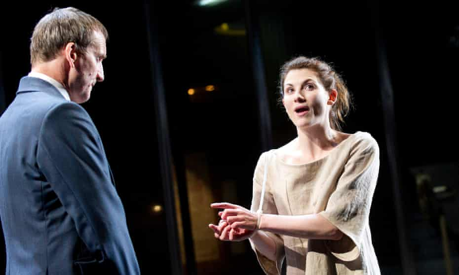 Christopher Eccleston as Creon and Jodie Whittaker as Antigone in the National theatre's 2012 production of Antigone