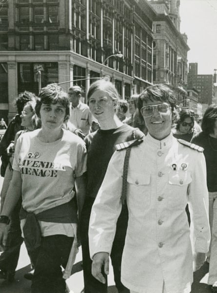 The Christopher Street Liberation Day celebration, 1970, with Ellen Broidy, far left.