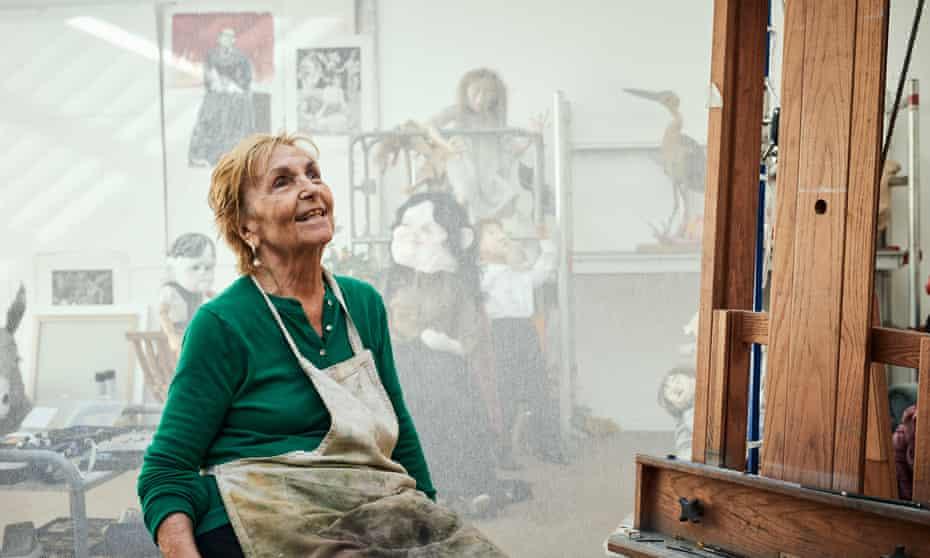 Paula Rego in her studio, 2018.