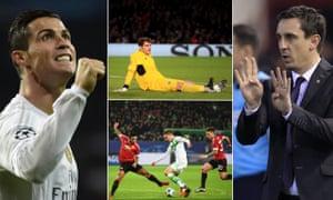 Cristiano Ronaldo, Iker Casillas, Gary Neville and Julian Draxler.