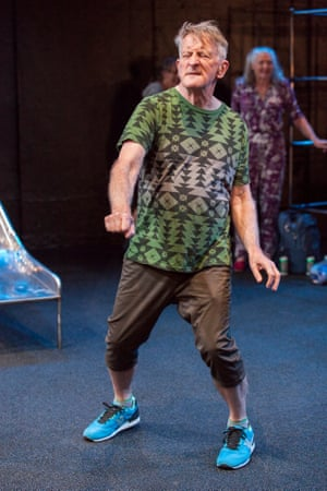 John Gaden dances to Taylor Swift's Shake It Off as Mike in Matthew Whittet's Seventeen at Belvoir.