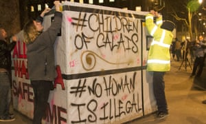 'Children of Calais' pro-refugee demonstration in London this month.