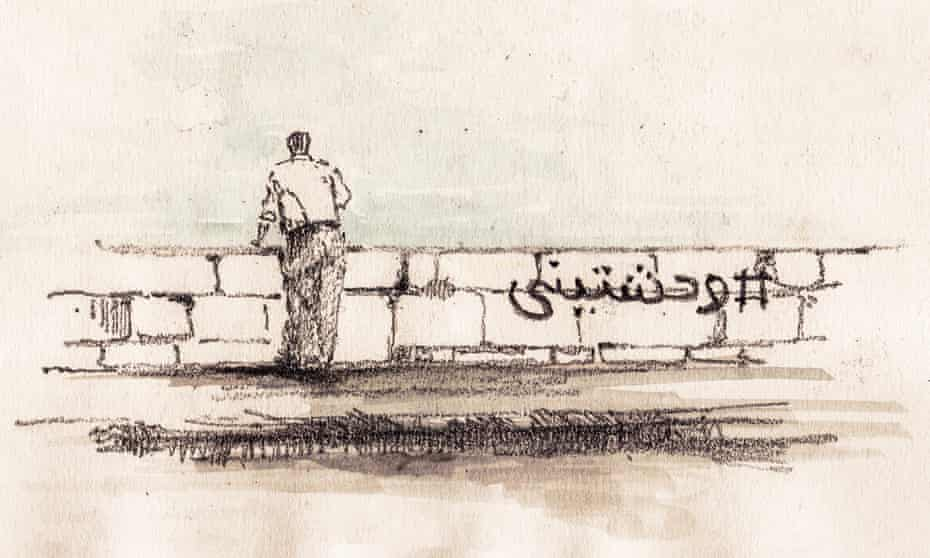 """In the Arabic word is Wahashtini which means """"I miss you"""" addressing a female. The city's name is also female, and as I saw this hashtag on the old corniche on a day I was barely able to see the sea, I felt it was symbolic – almost as if it was a complaint from the citizens who miss their city."""