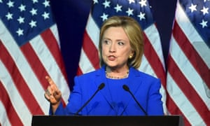 Hillary Clinton addresses the Democratic National Committee