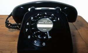 Old-fashioned black sixties telephone