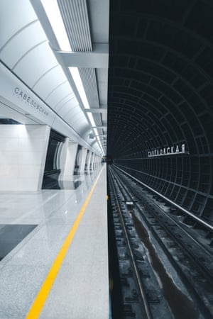 """Metrostation, by Alexandr Bormotin, taken in Moscow, Russia (winner of the public choice award): """"The new Moscow metro station is made in a futuristic style."""""""