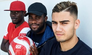 Victorien Angban (left), Jérémie Boga (centre) and Andreas Pereira are all on loan at Granada from Premier League sides.