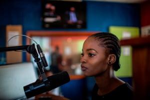 Young broadcaster Mpho Molutsi, 18