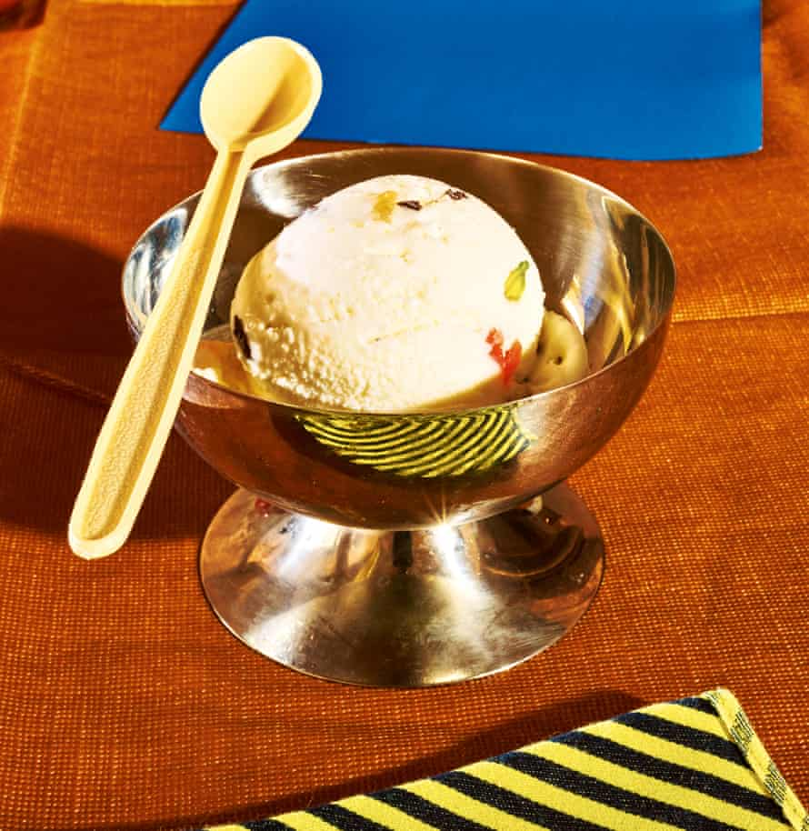 Ricotta and canditi ice-cream, by Kitty Travers