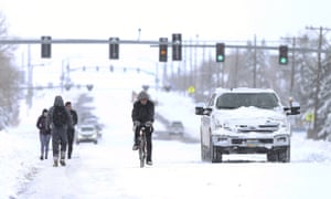 A powerful late-winter snowstorm dumped over 3 feet of heavy, wet snow on parts of Colorado and Wyoming, shutting down roads, closing state legislatures in both states, and interfering with Covid-19 vaccinations.