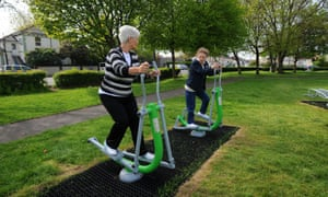 An outdoor gym playground for old people in Eastbourne