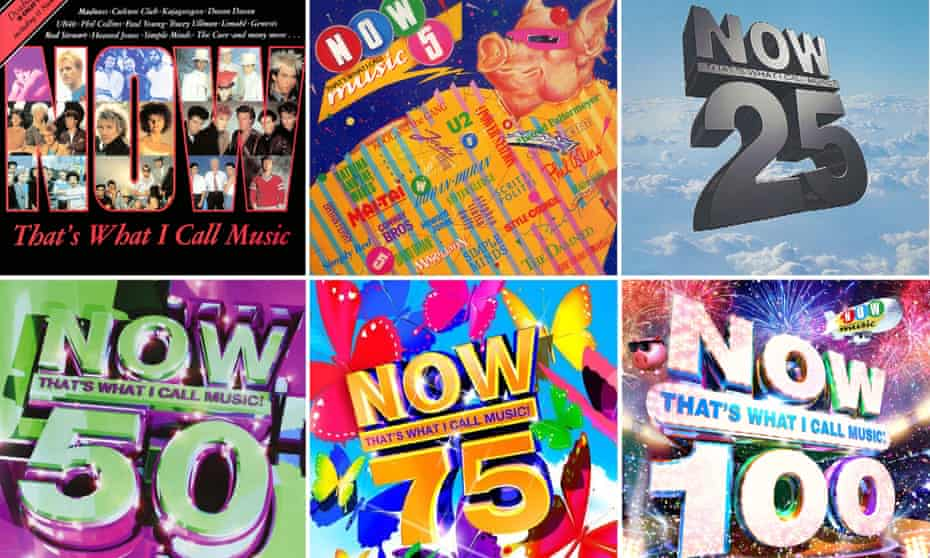 Now and then … a composite of Now That's What I Call Music covers, past and present