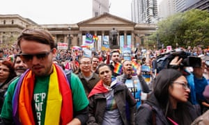 The marriage equality rally in Melbourne