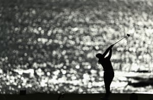 Kingsbarns, ScotlandSouth Korea's In-Gee Chun tees off on the second hole during the first round of the Ricoh Women's British Open, against the backdrop of the North Sea