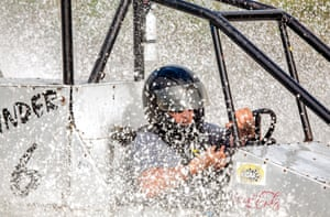 John Parks in his vehicle Sidewinder, 2008