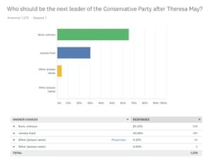 Survey of Tory members