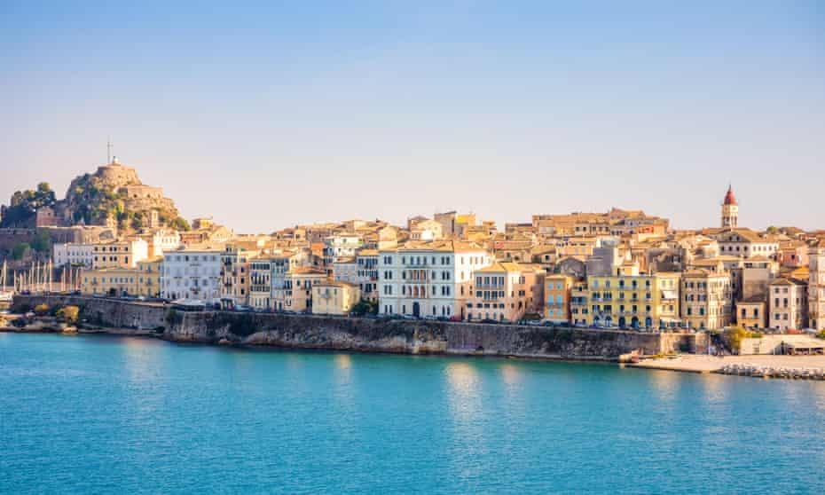 Corfu town.