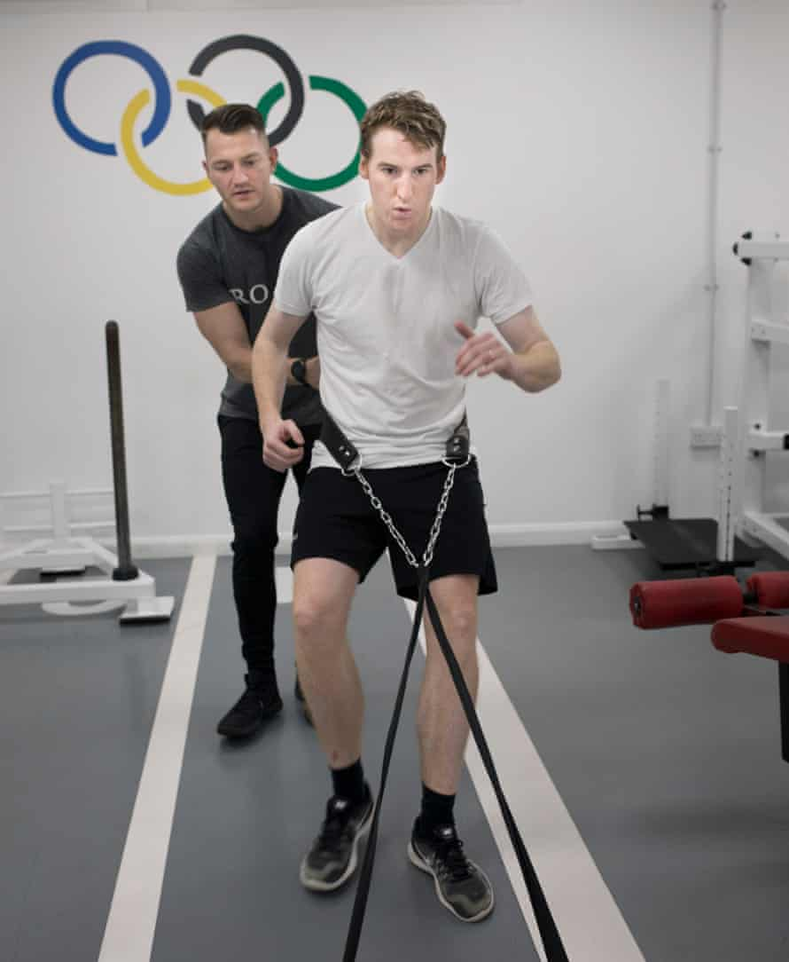 working out with elastic bands