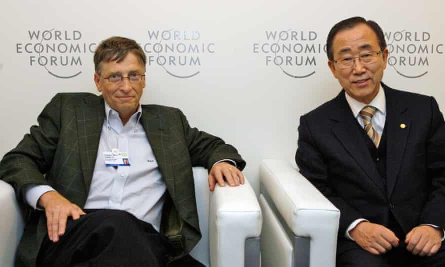 Bill Gates and former UN secretary general Ban Ki-moon (right) are among the leaders of the new Global Commission on Adaptation