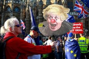 Picture of Boris Johnson as the Joker