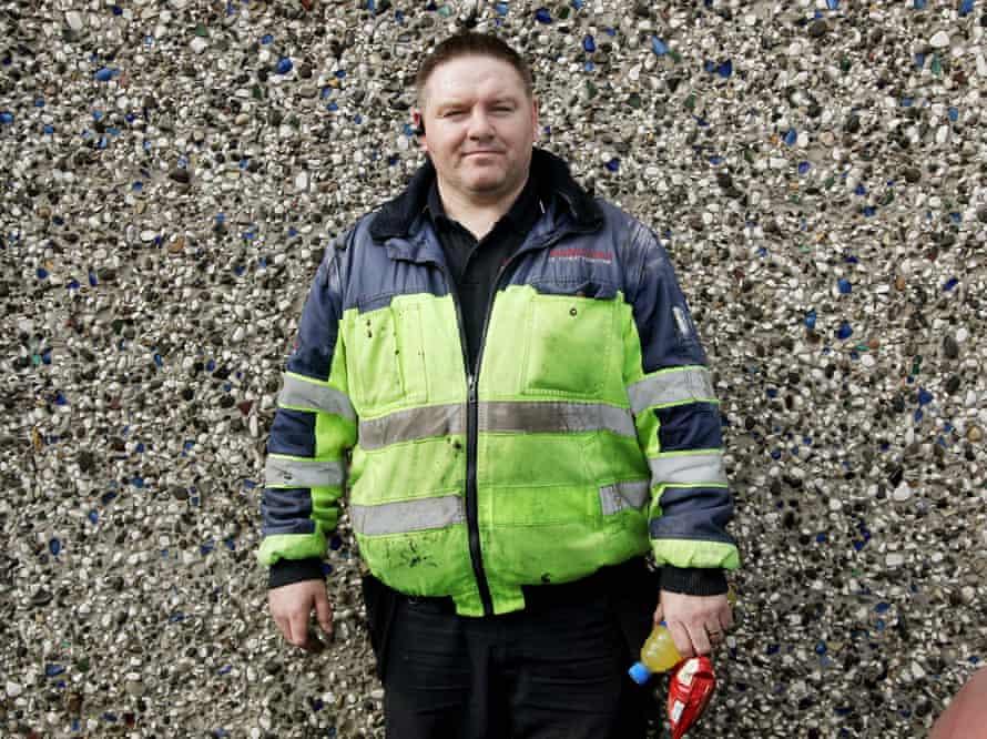 Ciaran Hanna, oil man, Forkhill. South Armagh, Northern Ireland 2017.