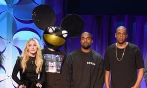 Deadmau5, Kanye West, Madonna and Jay Z.