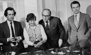Shirley Williams with fellow 'Gang of Four' members and SDP founders William Rodgers, Roy Jenkins and David Owen, in 1981.