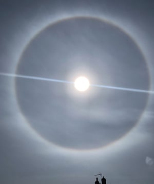 A 22-degree halo often precedes a storm, 8 May