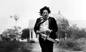 Gunnar Hansen, in Tobe Hooper's diabolically horrible film The Texas Chainsaw Massacre.