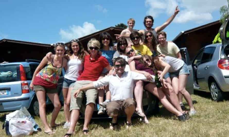 Rhiannon Lucy Cosslett with Erasmus students in Italy