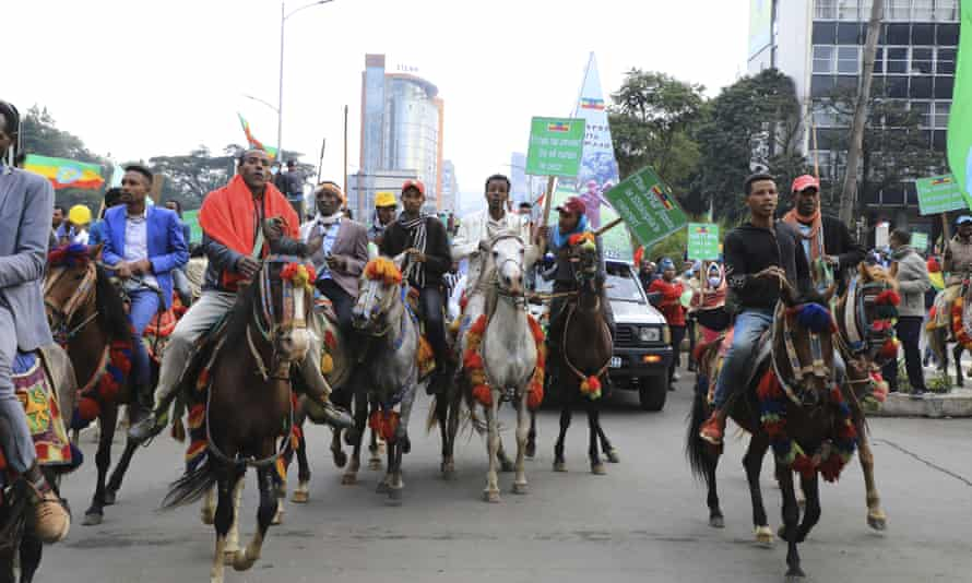 Ethiopians heading to Meskel Square, Addis Ababa, on Sunday to rally against the Tigray People's Liberation Front (TPLF) and renew commitments to support the national army.