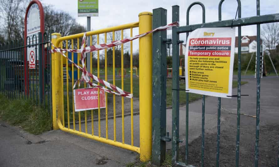 A closed playground in Manchester