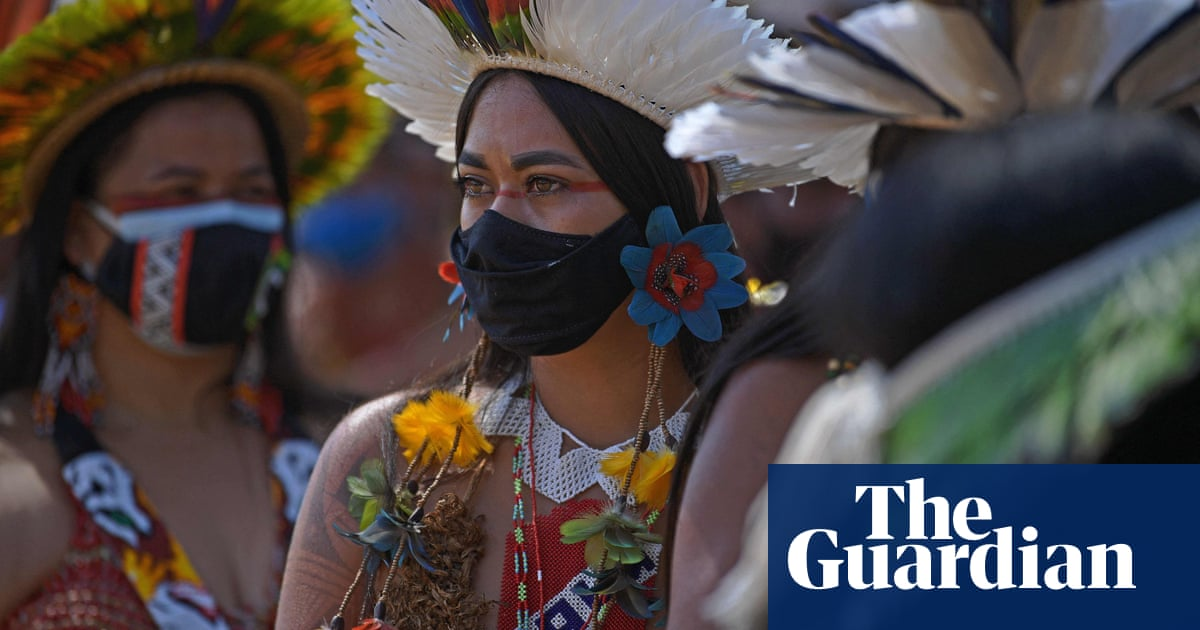 Indigenous warrior women take fight to save ancestral lands to Brazilian capital