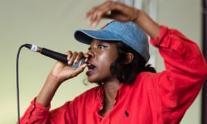 Little Simz performs at Field Day festival in London, June 2016.