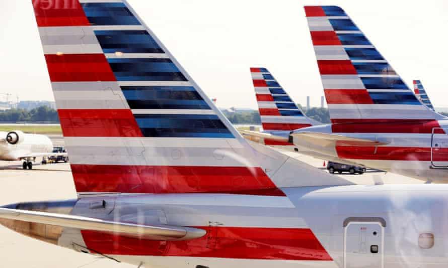 American Airlines aircraft parked at Ronald Reagan Washington National Airport